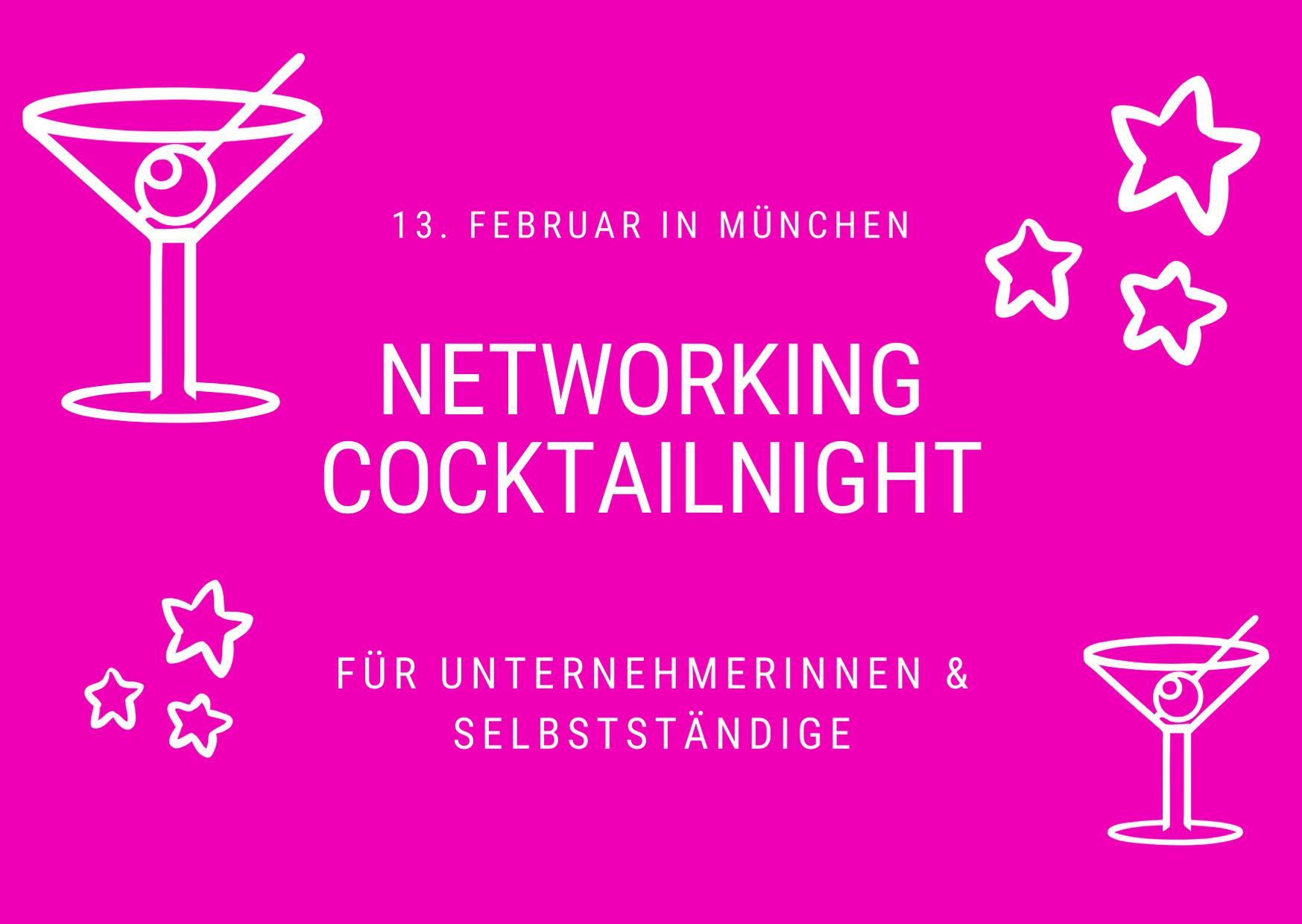Münchner Networking Cocktailnight für Selbstständige
