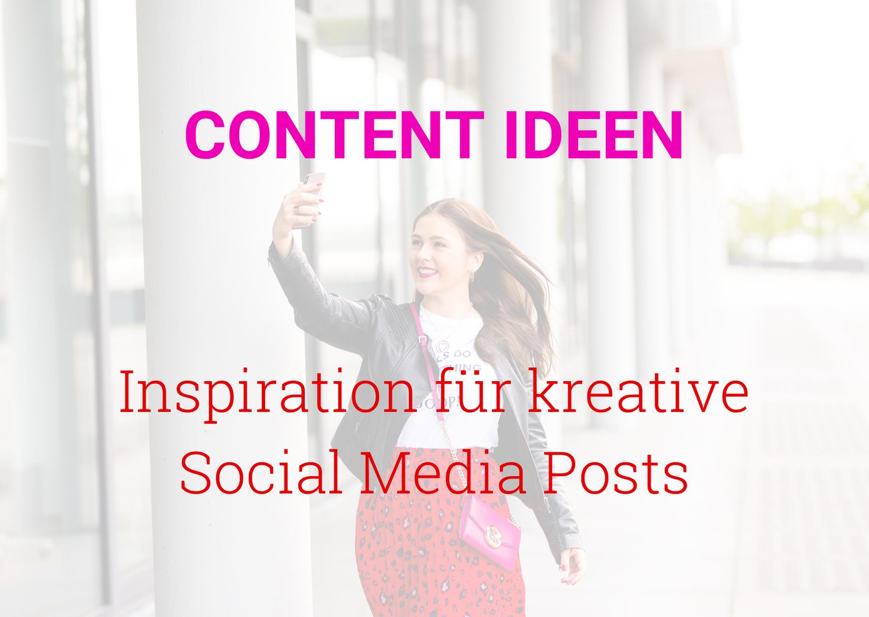 Social Media Content Ideen